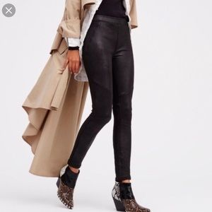 Free People | Faux Leather Skinny Pull On Pants 2